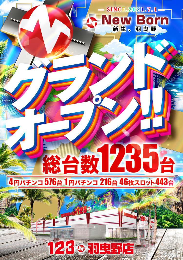 123+N羽曳野店(グランドオープン)